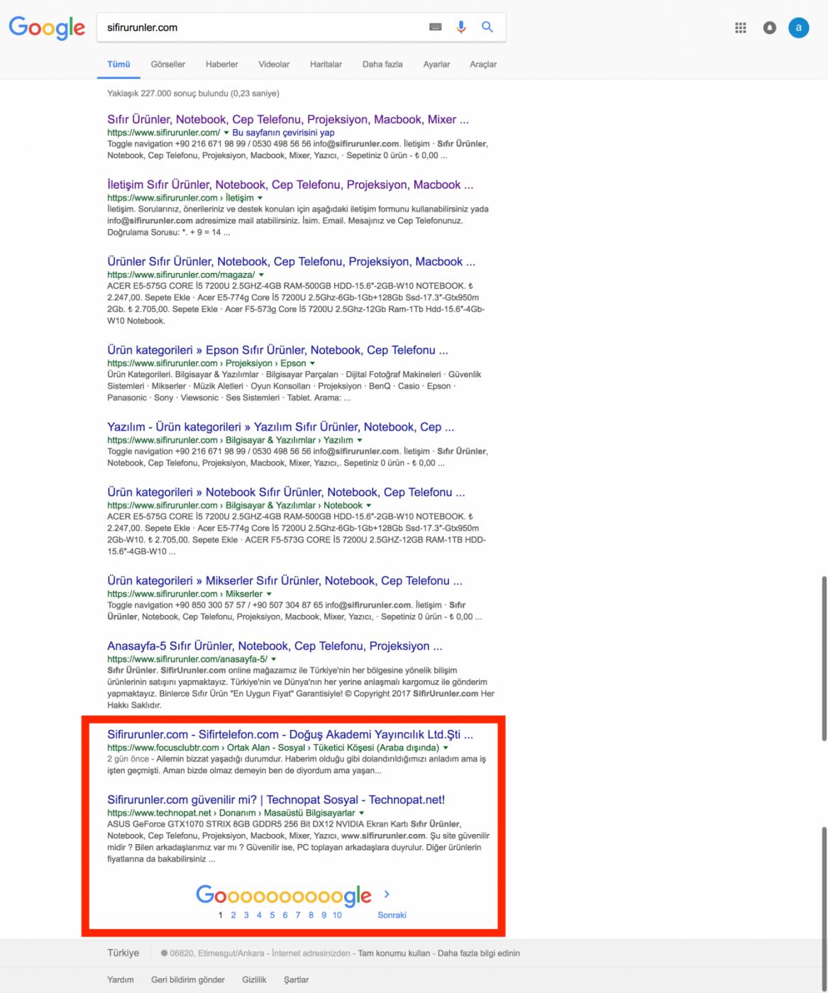 sifirurunler com   Google da Ara.png